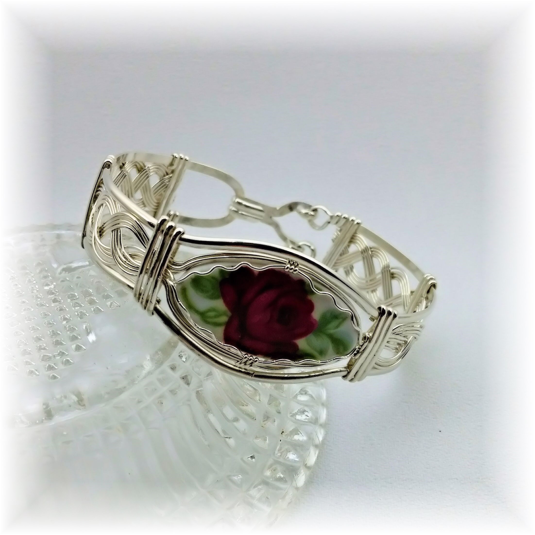 Wire Wrapped Wire Formed Sterling Silver Antique China
